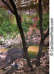 cañón, riachuelos, ríos