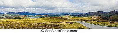 cañada, grande, panorama, ness de lago, escocés, tierras altas, o, más