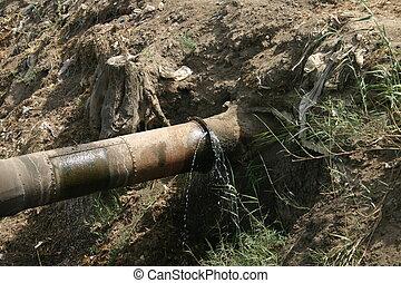 caño de agua, defectuoso