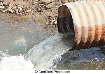 caño de agua, desperdicio