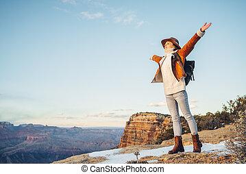 cañon, voornaam, nationale, toerist, vrolijke , park