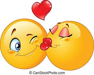 całowanie, emoticons