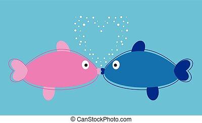 całowanie, fish