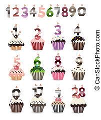 ca, anniversaire, nombre, petit gâteau
