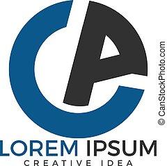 CA Modern Letter Logo Design.