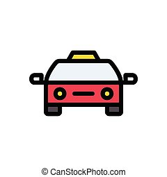 cab  flat color icon
