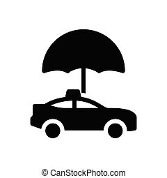 cab  glyph flat icon