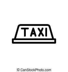 cab  thin line icon