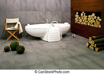 cabaña, cuarto de baño