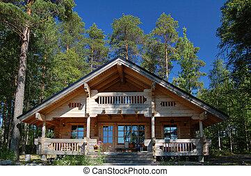 cabaña de madera