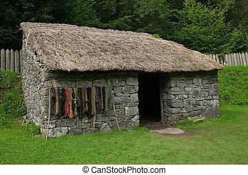 cabaña, edad piedra