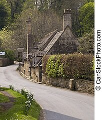 cabaña, gloucestershire, cotswold, inglaterra, snowshill