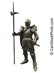 caballero, medieval, decimoquinto, siglo