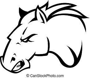 caballo, diseño, ilustración