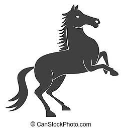 caballo, estante