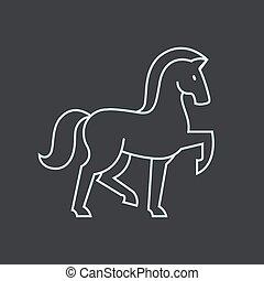 caballo estilizado, icono