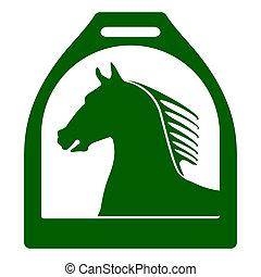 caballo, estribo, señal