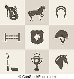 caballo, iconos