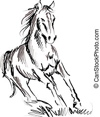 caballo, ilustración