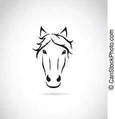caballo, imagen, cara, vector, plano de fondo, blanco