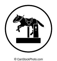 caballo, máquina, icono