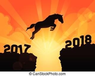 caballo que salta, año, 2018, luego