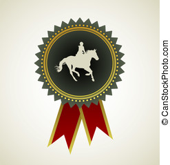 caballo, símbolo, premio, escarapela
