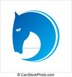 caballo, símbolo, vector