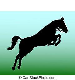 caballo, silueta