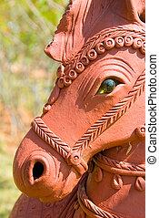 caballo, terracota