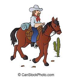 caballo, vaquero