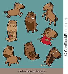 caballos, caricatura