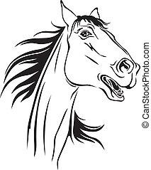 caballos, neighs