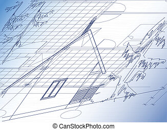 cabana, arquitetônico, fundo