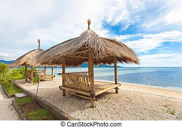 cabana, bambu