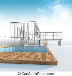 cabana, construção