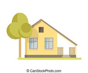 cabana, cute, casa tijolo