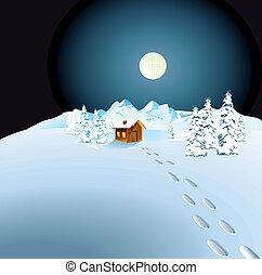 cabana, neve