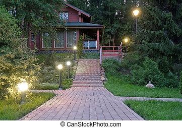cabana, noite