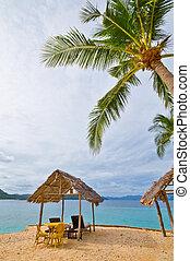 cabana, praia, privado