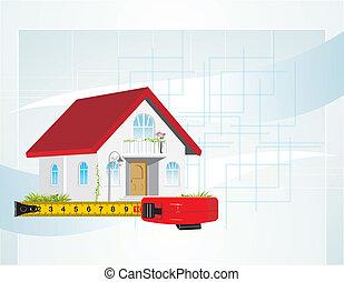 cabana, roleta, medida