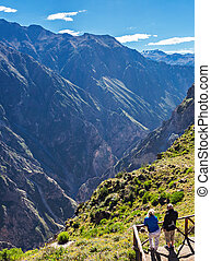 Cruz Del Condor - CABANACONDE, PERU - MAY 13, 2015:...