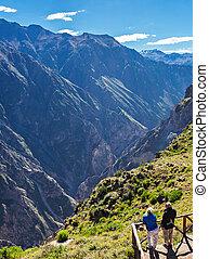 Cruz Del Condor - CABANACONDE, PERU - MAY 13, 2015:...