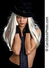 cabaret #2 - backlight image of cabaret girl
