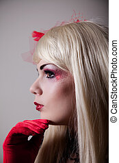 cabaret,  portrait,  girl, Maquillage, scintillement