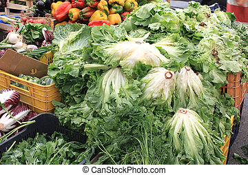 Cabbage and other vegetables