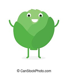Cabbage, Cute vegetable character