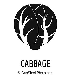 Cabbage icon, simple style.