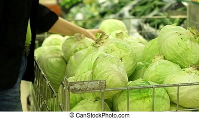 Cabbage in the supermarket