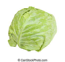 Cabbage isolated on a white background